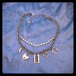 Guess silver necklace